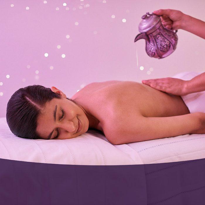 Das Hamam Mathilden bietet wohltuende Aromaölmassage