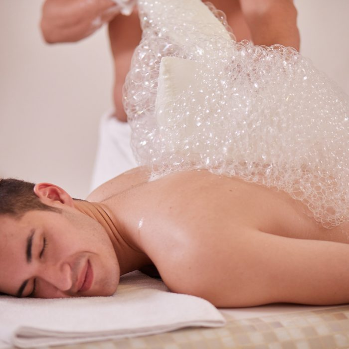 Seifenmassage im Hamam Mathilden